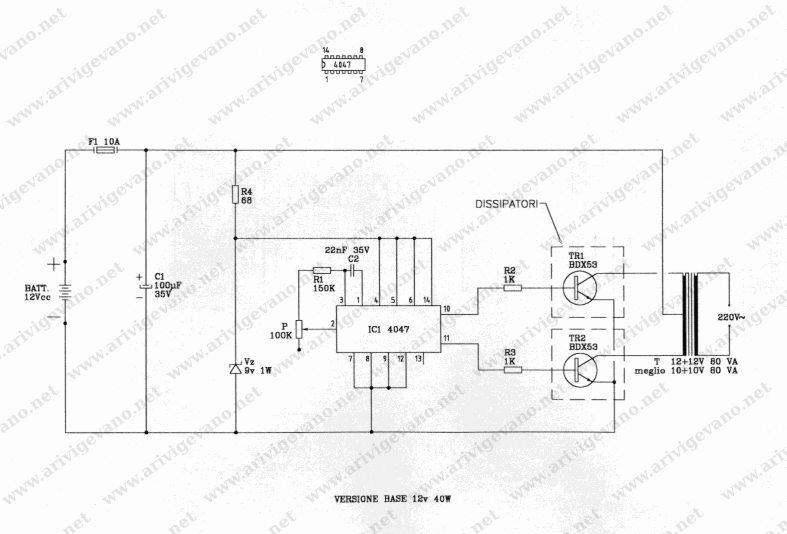 Schema Elettrico Per Inverter : Schema elettrico inverter v fare di una mosca