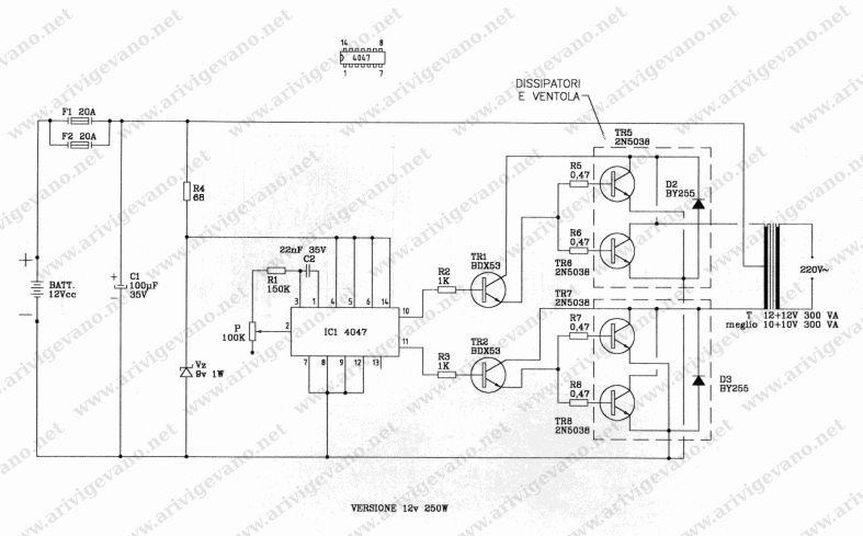 Schemi Elettrici Fai Da Te : Modiche frequenza e transistor inverter v il forum di