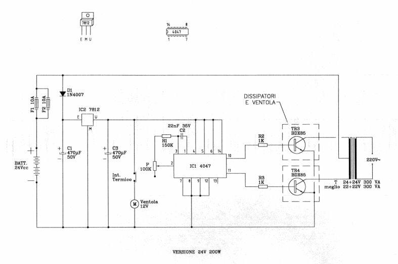 Schema Elettrico Per Inverter : Schema elettrico inverter w fare di una mosca
