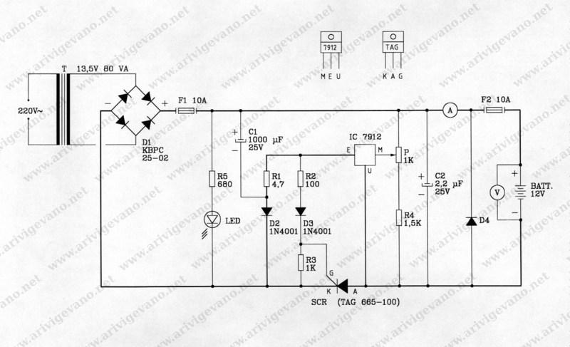 Schema Elettrico Voltmetro Per Auto : Carica batterie v arivigevano