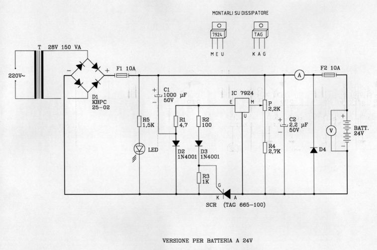 Schema Elettrico Per Caricabatterie 12 Volt : Variante caricabatterie v arivigevano